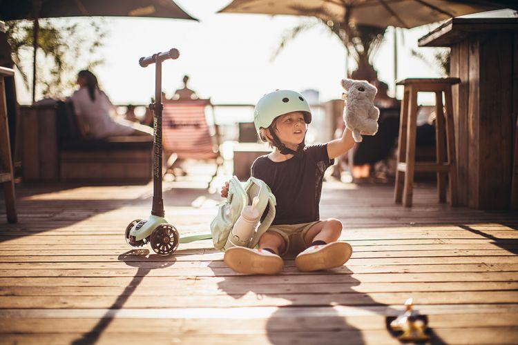 Scootandride - Plecak na hulajnogę dla dzieci 1-5 lat Kiwi