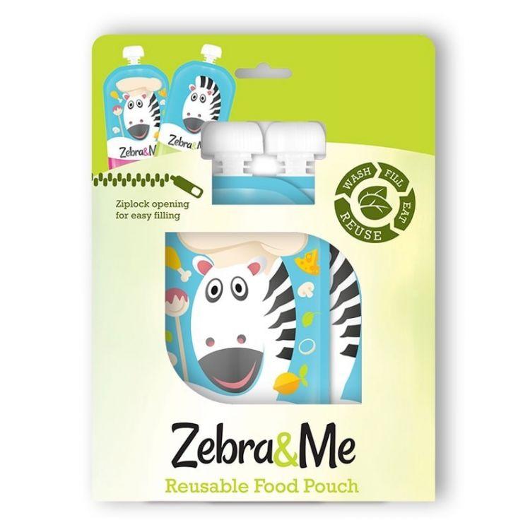 Zebra & Me - Saszetki do Karmienia Wielorazowe Chef 2szt.