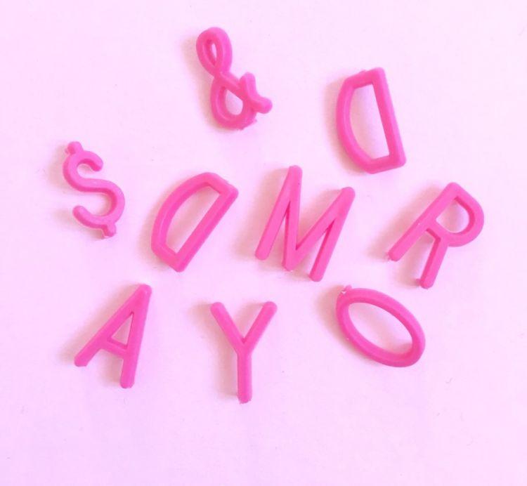 OMM Design - Literki do Tablicy Pink 1,9 cm
