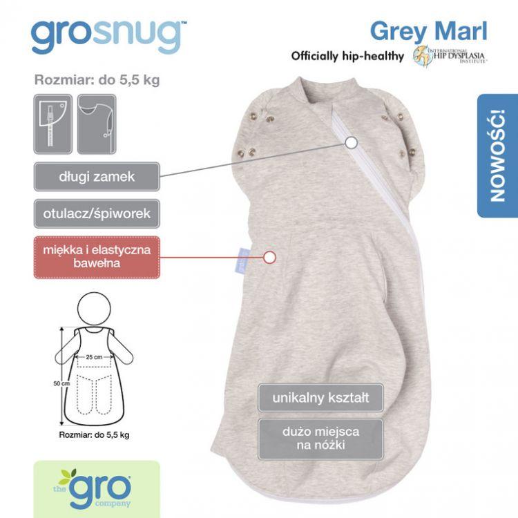 Gro Company - Otulacz-Śpiworek Grosnug Grosnug Grey Marl