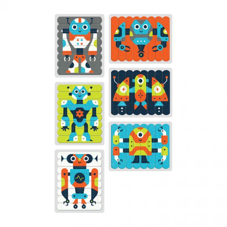 Mudpuppy - Puzzle Patyczki Roboty 24 Elementy