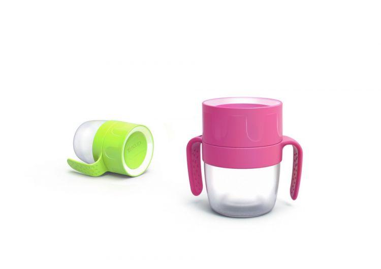 LiteCup - Świecący Kubeczek Niekapek z Uchwytami Neonowy
