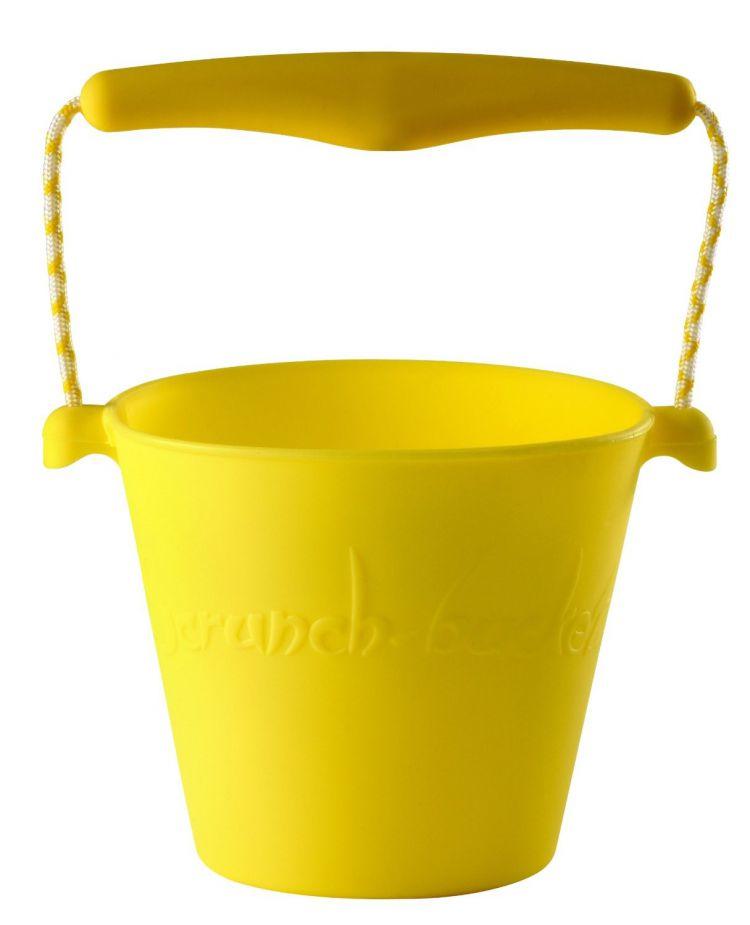 Scrunch - Zwijane Silikonowe Wiaderko Żółte