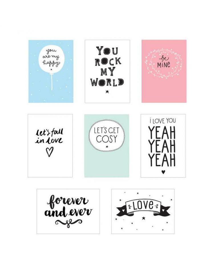 A Little Lovely Company - Plakaty do Lightbox Poster Love