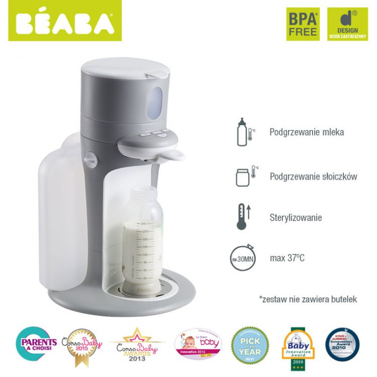 Beaba - Bib Expresso do Mleka Grey