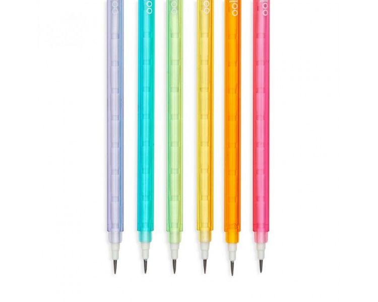 Ooly - Ołówki z Przekładanym Wkładem, Zawsze Naostrzone, Stay Sharp 6szt. 3+