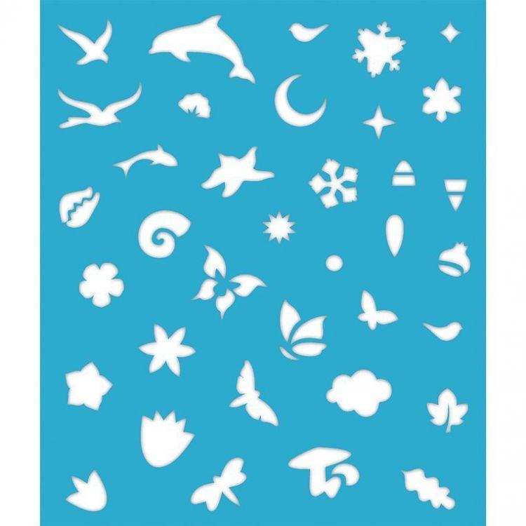Janod - Zestaw Kreatywny Perłowe Plakatówki 4 Pory Roku 7+