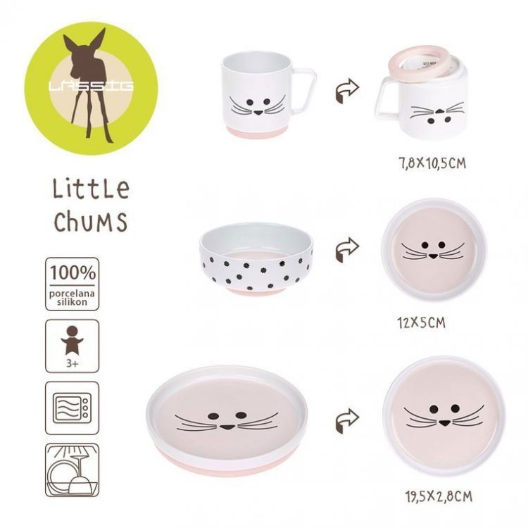 Lassig - Komplet Naczyń z Porcelany Little Chums Mysz