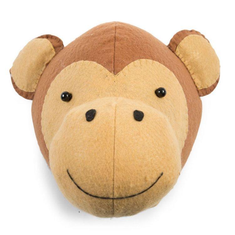 Childhome -  Filcowa Głowa Małpki Na Ścianę