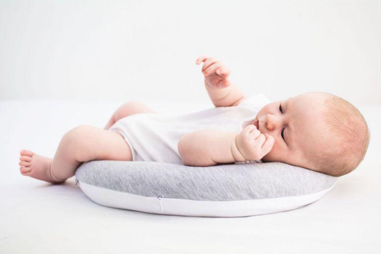 Poofi - Poduszka Stabilizacyjna dla Noworodków i Wcześniaków Szaro-biała