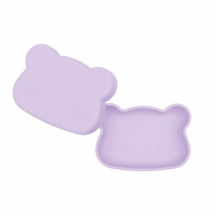 We Might Be Tiny - Zamykany Pojemnik Silikonowy Miś Lilac