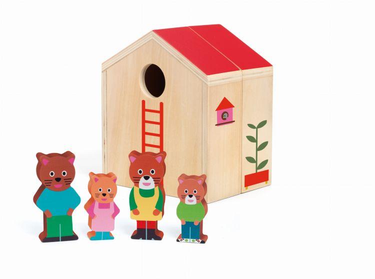 Djeco - Drewniana Zabawka Mini Domek 18m+
