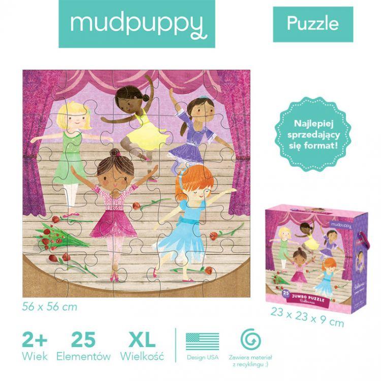 Mudpuppy - Puzzle Jumbo Baletnice 25 Elementów