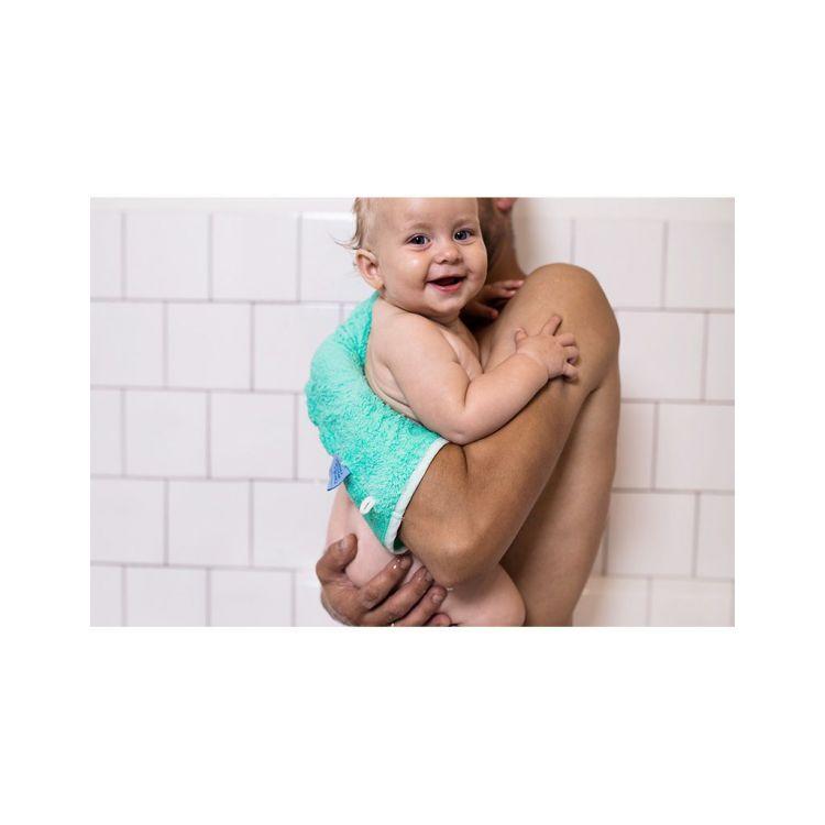 Invented 4 Kids - Rękawiczka Antypoślizgowa pod Prysznic Szara