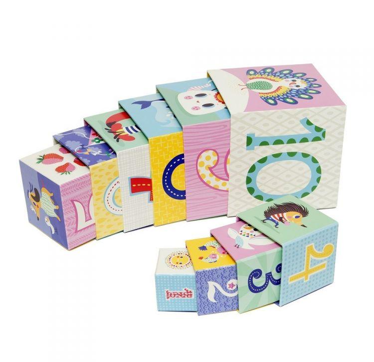 Petit Monkey - Klocki Wieża dla Najmłodszych 1+