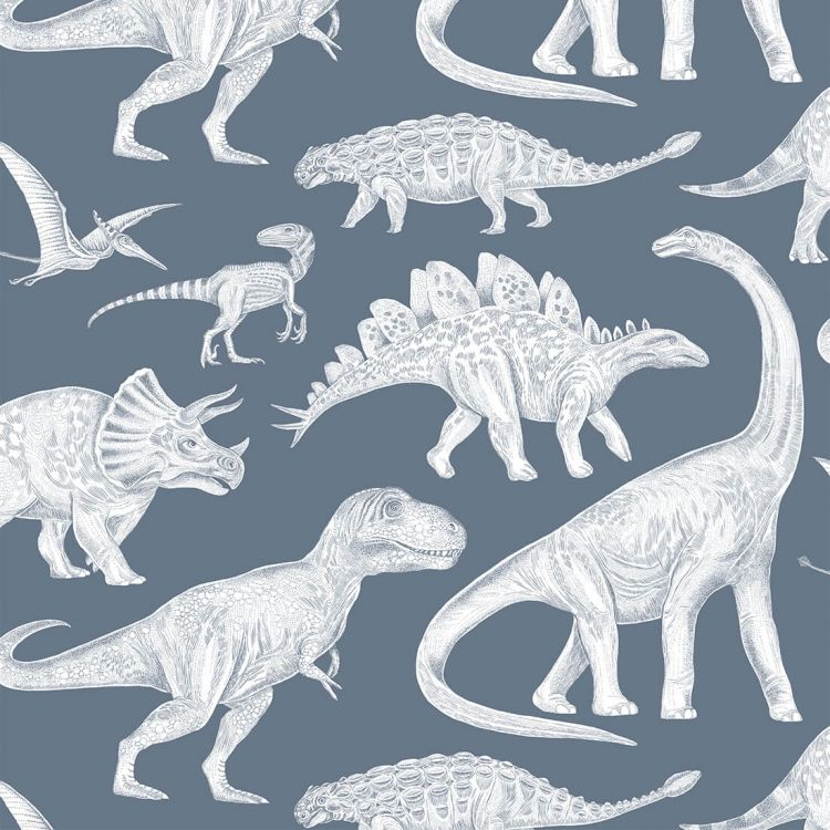 Pastelowelove - Tapeta Dino Blue