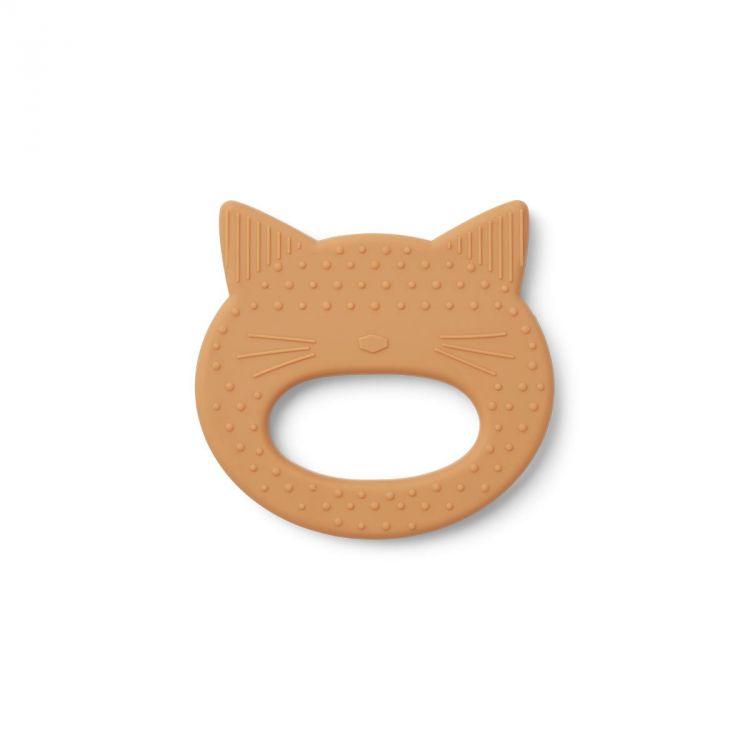 Liewood - Gryzak Silikonowy Cat Mustard