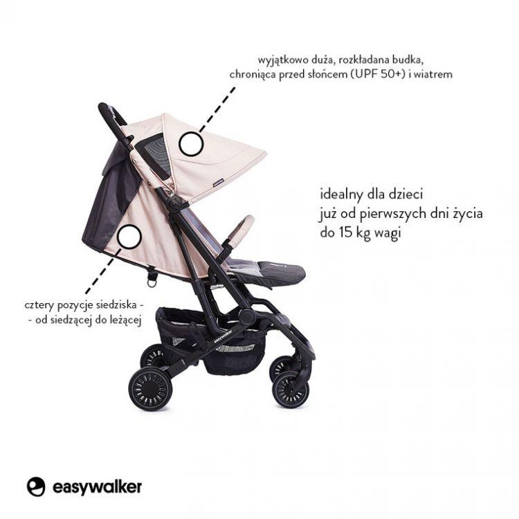 Easywalker - Buggy XS Wózek Spacerowy z Osłonką Przeciwdeszczową Monaco Apero