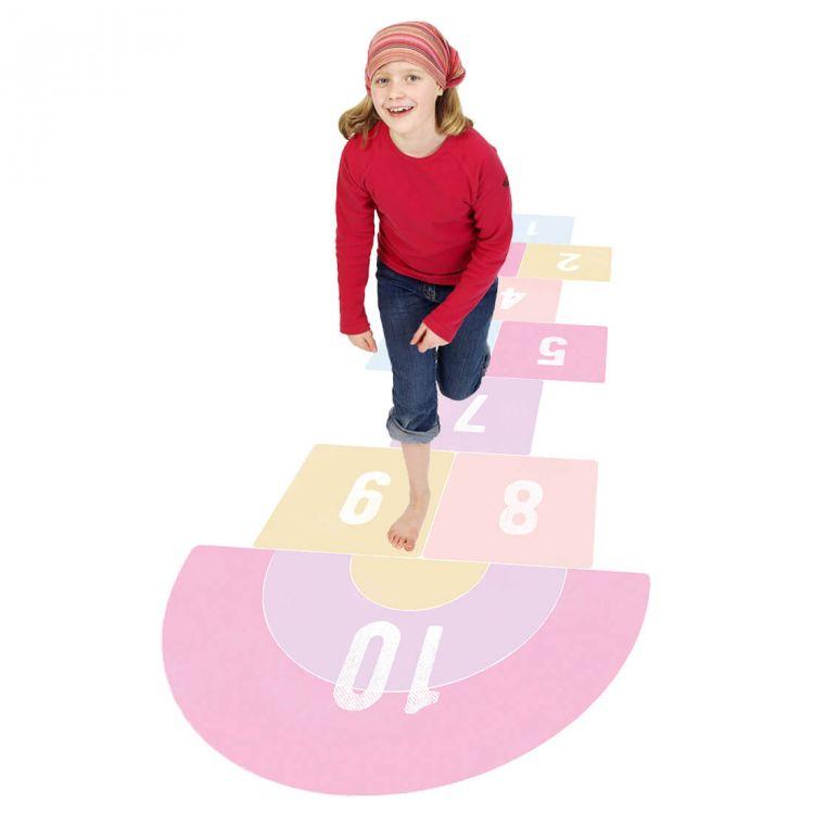 Pastelowelove - Naklejka na Podłogę Gra w Klasy Różowa