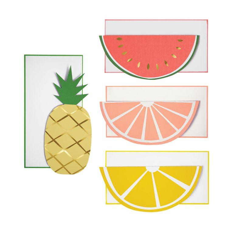 Meri Meri - Zestaw Kart na Życzenia z Kopertami Fruit