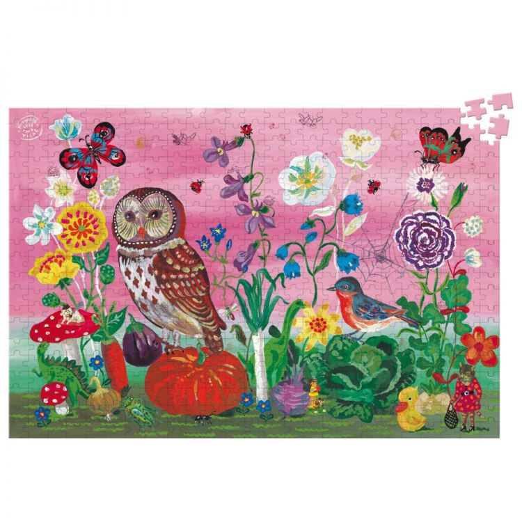 Vilac - Ogród Warzywny Puzzle 500 elementów by Nathalie Lété Drewniane