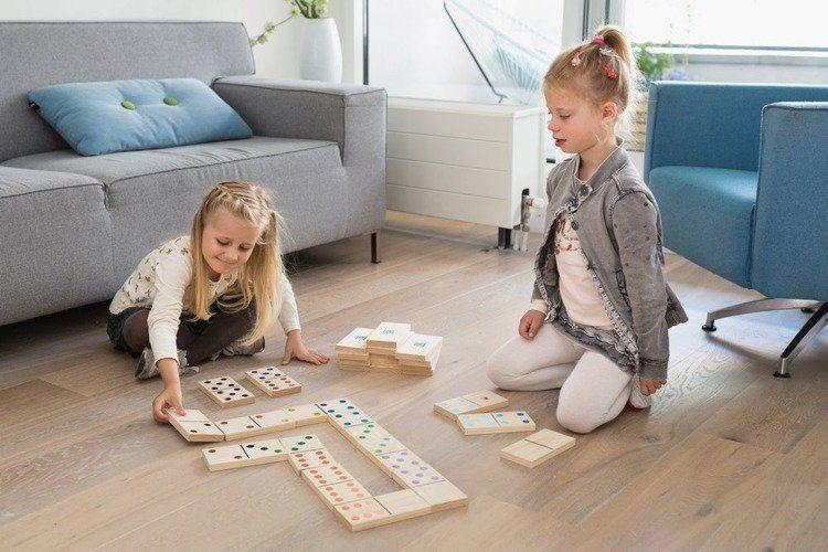 Buiten Speel - Domino Drewniane Kolorowe