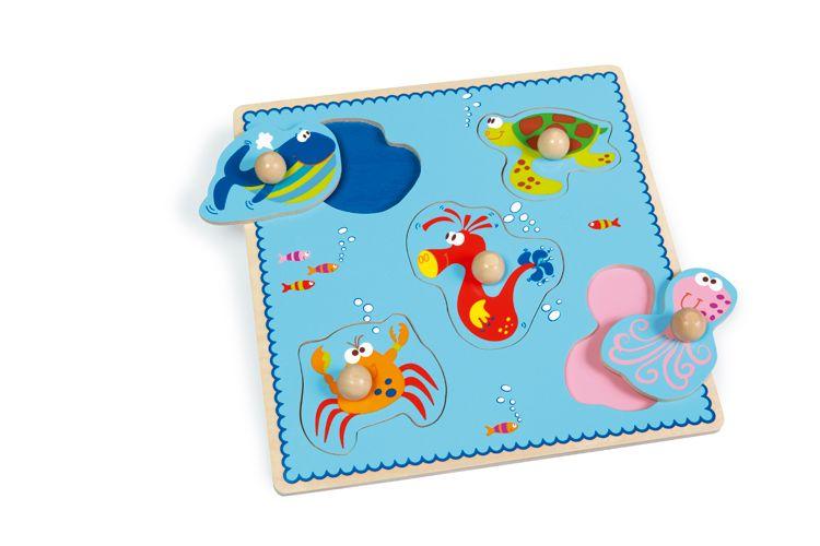 Scratch - Puzzle z Uchwytem Morze
