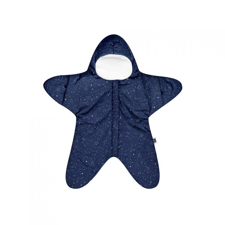 Baby Bites - Kombinezon Zimowy Star Navy Blue 3-6m