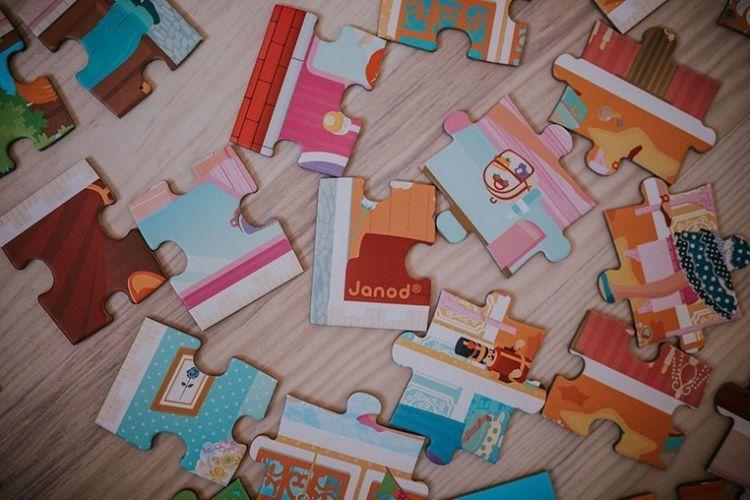 Janod - Puzzle w Walizce Akademia Tańca 100 elementów 6+