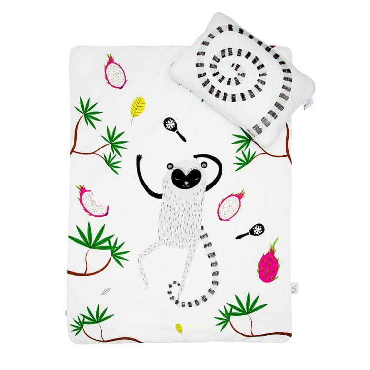 Maki Mon Ami - Satynowa Pościel z Wypełnieniem z Lemurem Leonem (M)
