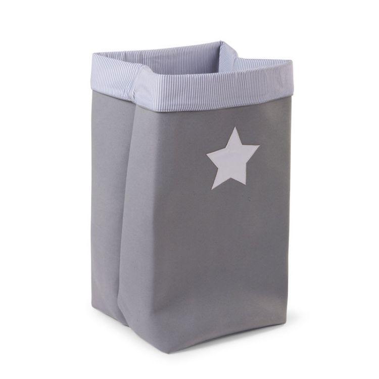Childhome - Pudełko na Zabawki Płócienne 32x32x60 Szare