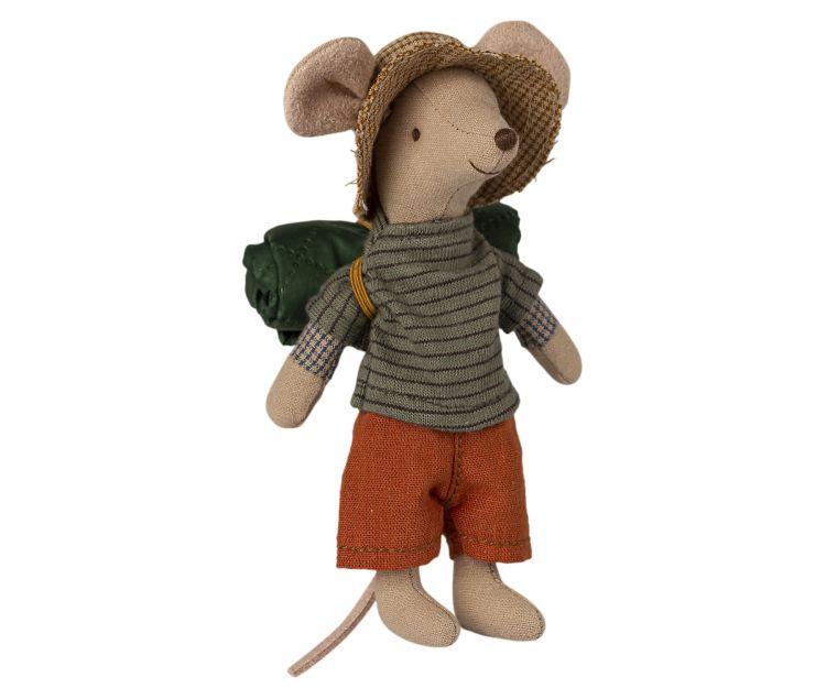 Maileg - Przytulanka Myszka Hiker mouse, Big brother