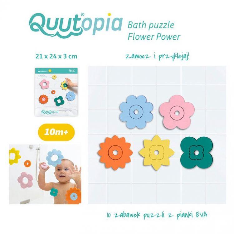 Quut - Zestaw Puzzli Piankowych Quutopia Kwiaty 10m+
