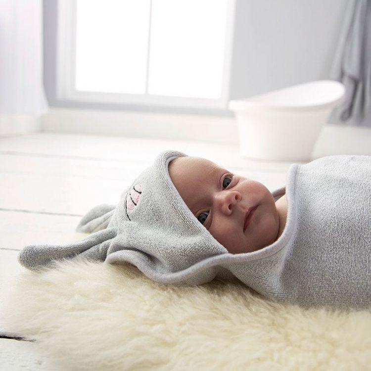 Gro Company - Otulacz-ręcznik Groswaddledry Betty the Bunny 0-6 miesięcy