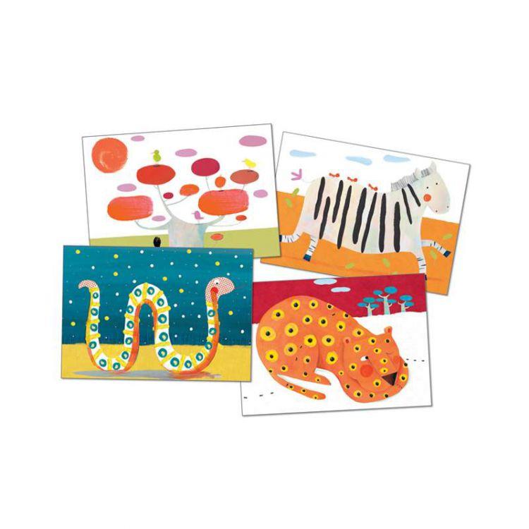 Djeco - Zestaw do malowania Palcami Tygrys