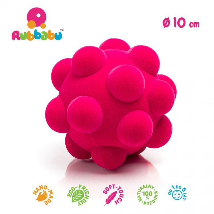 Rubbabu - Piłka Sensoryczna z Mocną Fakturą Wirus Różowa