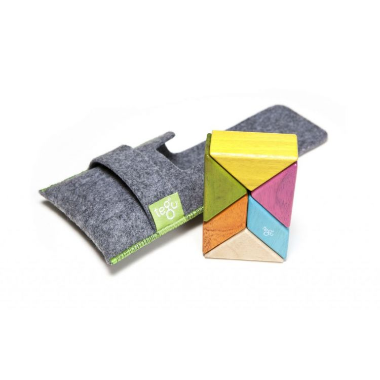 Tegu - Drewniane Klocki Magnetyczne Pocket Pouch Prism Tints