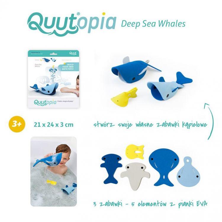 Quut - Zestaw Puzzli Piankowych 3D Quutopia Wieloryby 3+