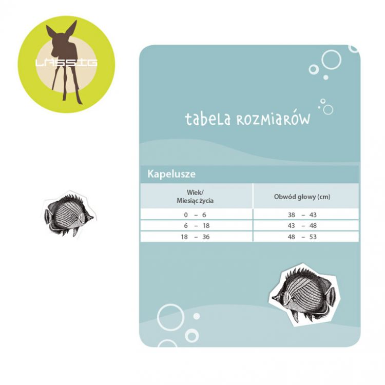 Lassig - Kapelusz Dwustronny UV 50+ Aqua 0-6m