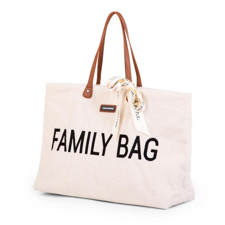 Childhome - Torba Family Bag Teddy Bear White (Limited Edition)