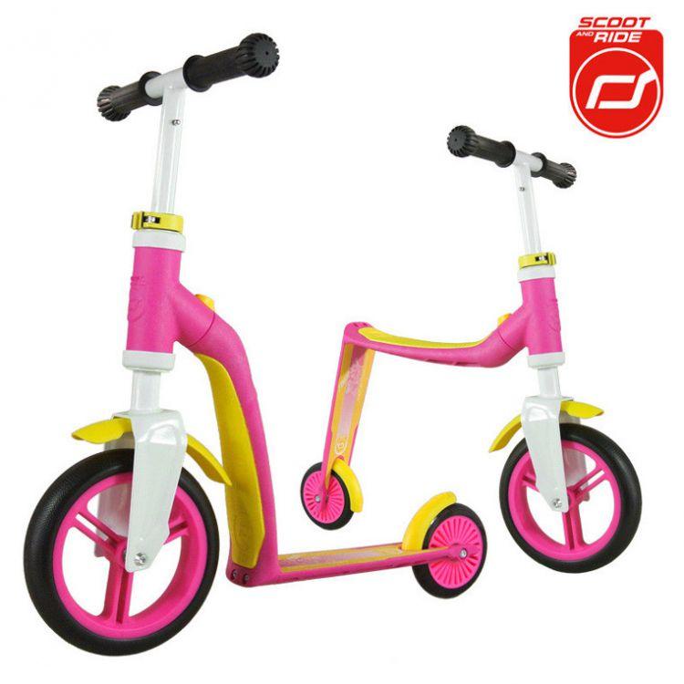 Scootandride - Highwaybaby 2w1 Hulajnoga i Rowerek Pink