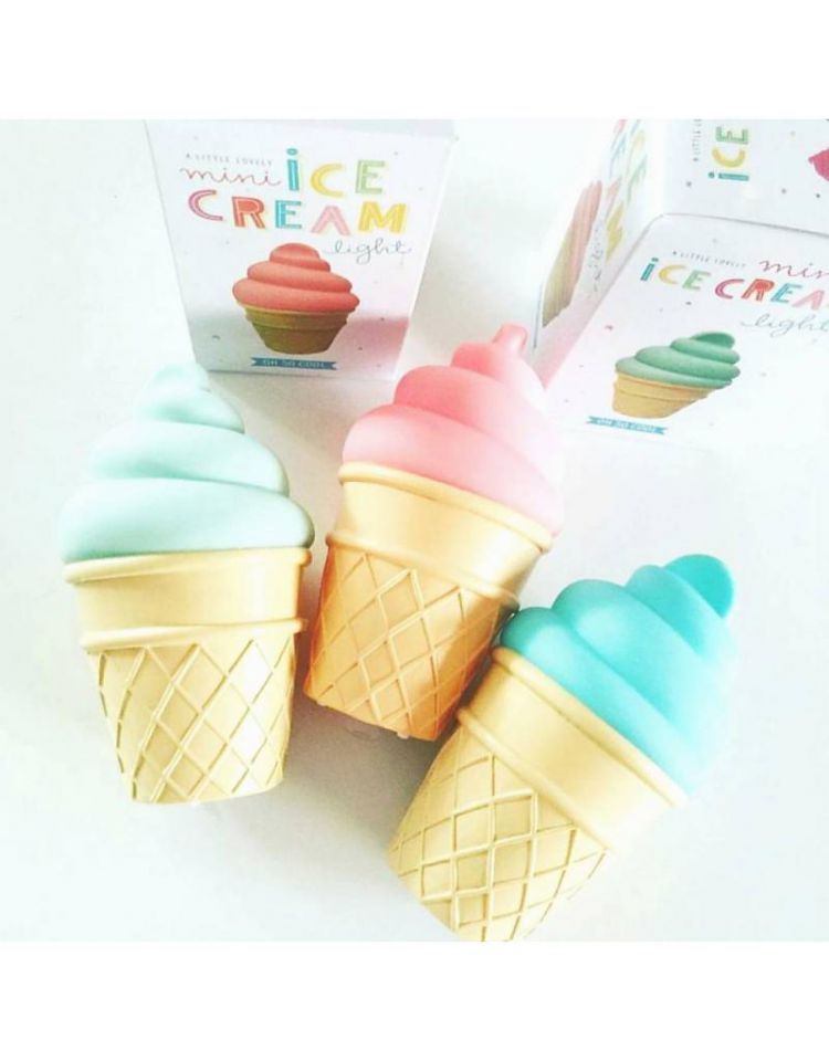 Little Lovely Company - Lampka Mini Ice Cream White