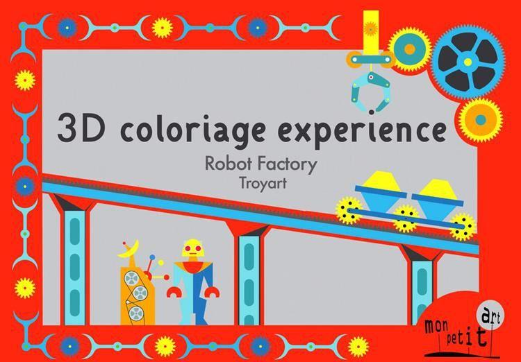 Mon Petit Art - Teatrzyk 3D Roboty