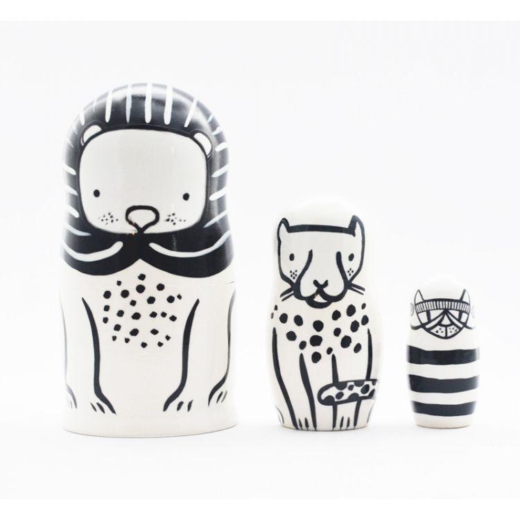 Wee Gallery - Matrioszki Cats Big&Small