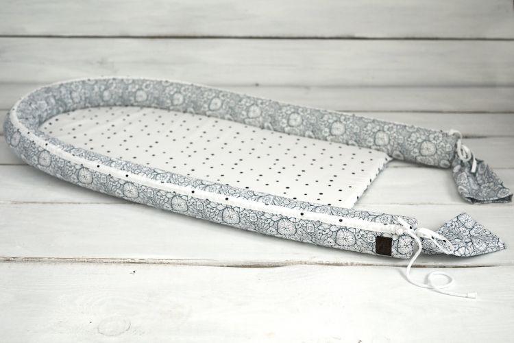 Sleepee - Bambusowe Gniazdko Niemowlęce Maxi Feel Grey