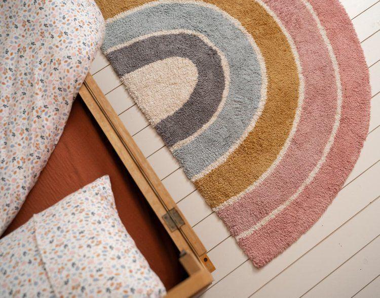 Little Dutch - Dywan Rainbow Pink 80x130cm
