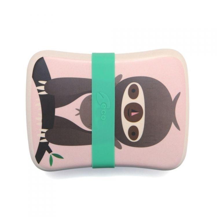 Petit Monkey - Bambusowy Lunchbox Sloth Pink