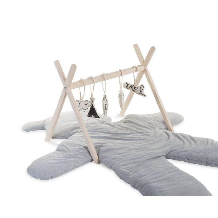 Childhome - Rama na Zabawki Tipi Play Baby Gym Natural