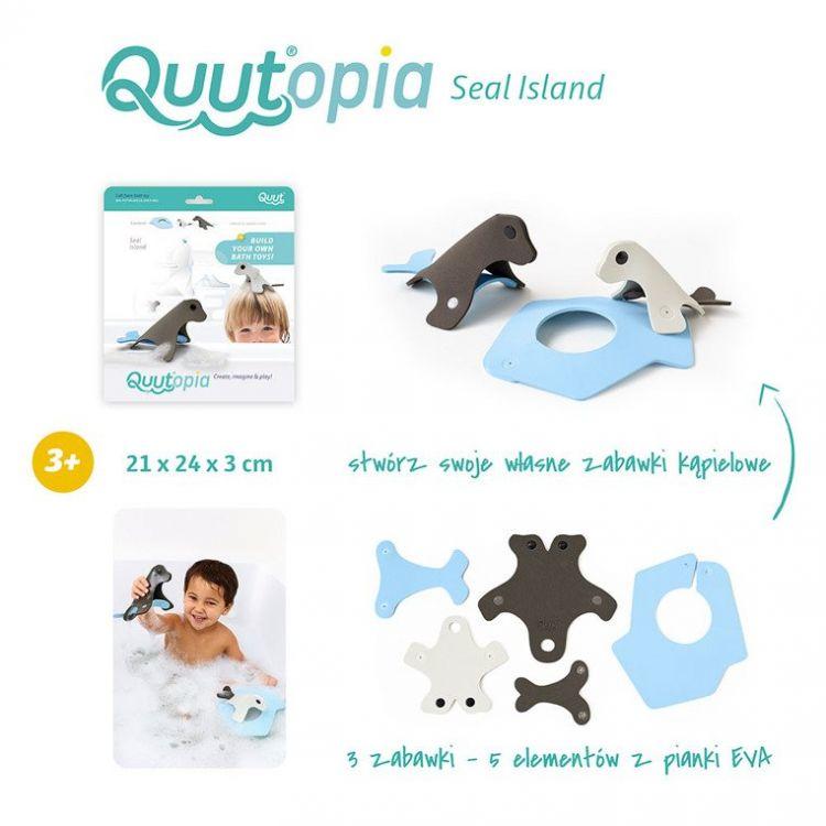Quut - Zestaw Puzzli Piankowych 3D Quutopia Foki 3+