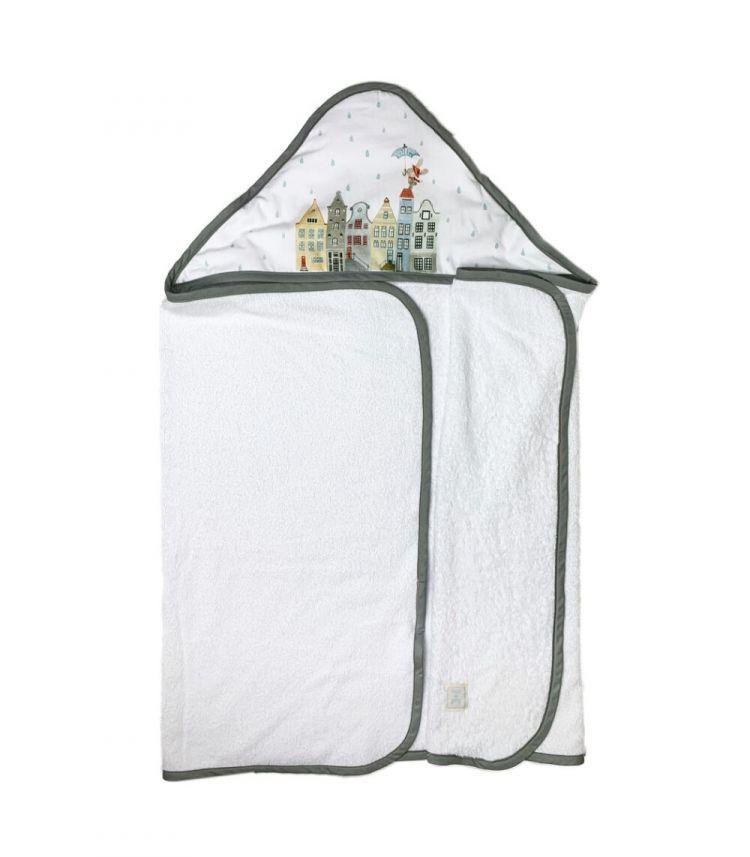 Muzpony - Duży Ręcznik Kąpielowy z Kapturem Amsterdam 140x70 cm